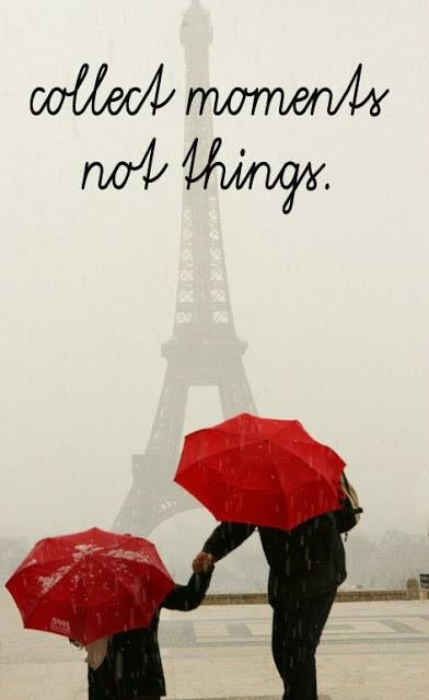 Moments, not things