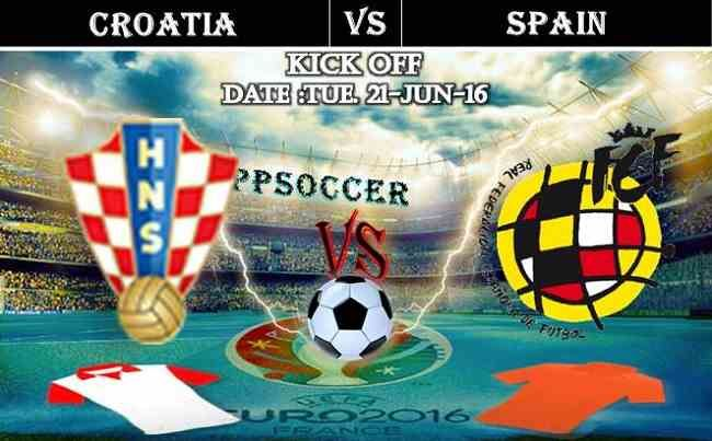 Croatia vs Spain 21.06.2016 Free Soccer Predictions, head to head, preview, predictions score, predictions under/over EURO Cup 2016 Group Stages