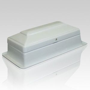 The Pet Casket & Vault Combination uses a self-aligned channel for easy sealing.  The pet casket is environmentaly safe and corrosion resistant. The pet casket is watertight and airtight; it demonstrates complete resistance to the intense pressure and weight experienced after interment.
