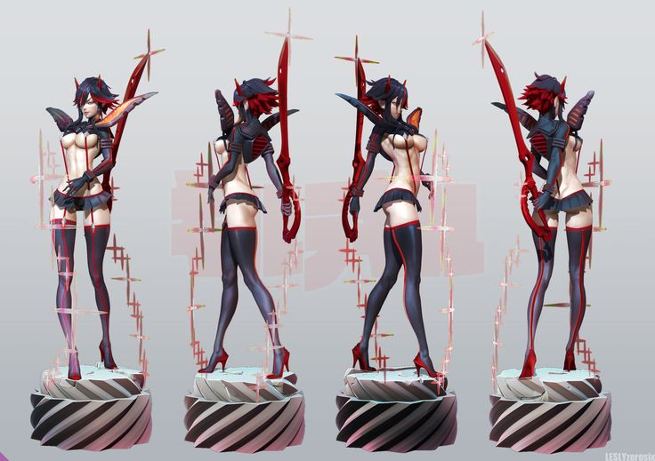 ZERONIS's Kill La Kill Matoi ryuko part2 by Leslyzerosix.deviantart.com on @DeviantArt