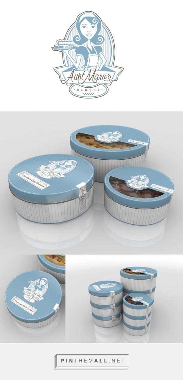 Aunt Marie's Bakery Branding via Eli Clark Design. Identity and packaging…
