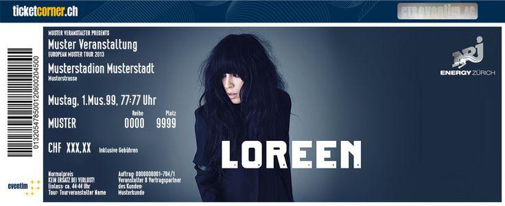 Loreen - Die Gewinnerin des Eurovision Song Contest 2012 kommt in die Schweiz. 15.04.14 in Zürich, Mascotte. http://www.ticketcorner.ch/loreen-tickets.html?affiliate=PTT&doc=artistPages/tickets&fun=artist&action=tickets&kuid=483544