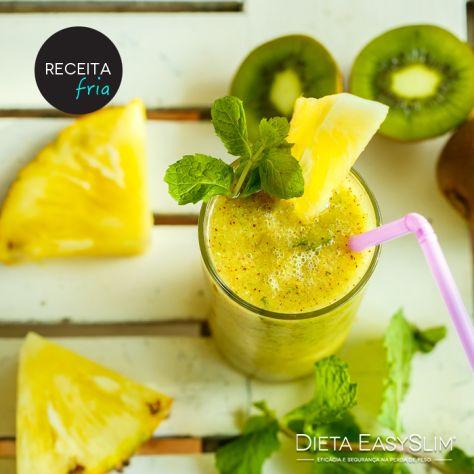 Sumo Detox de ananás e kiwi melhorsaude.org melhor blog de saude