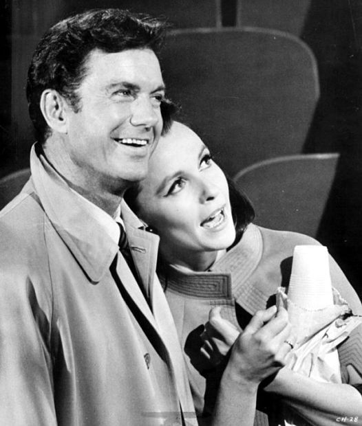 One of today's b'day celebrants Clarie Bloom with actor Cliff Robertson during shooting for the film Charly (1968) which Cliff won his Academy Award for.