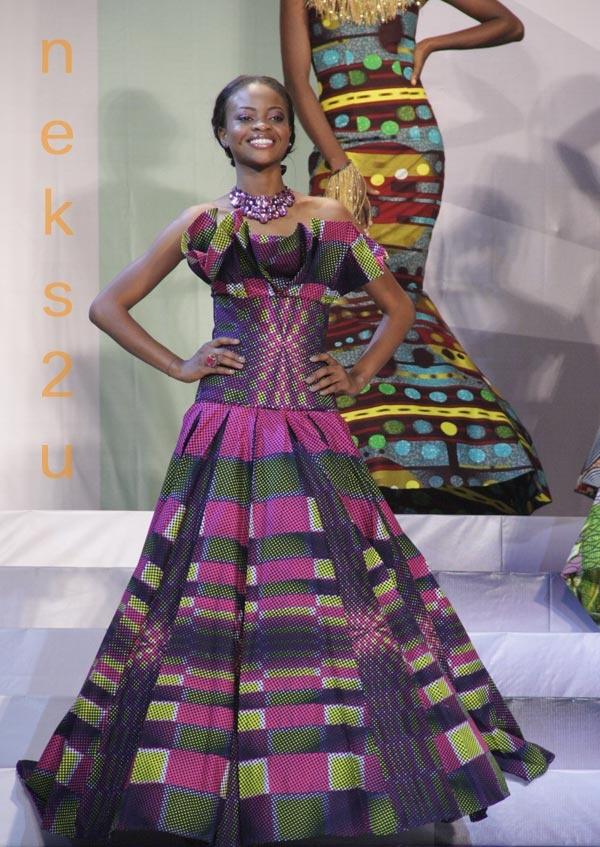 Magnífico Vestidos De Dama De Impresión Africano Modelo - Ideas para ...