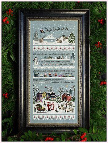 """Santa's Village"" by Victoria Sampler cross stitch pattern"