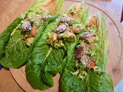 Wraps de laitue romaine