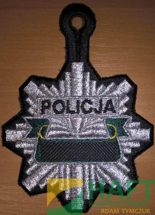 Haftowana odznaka policyjna