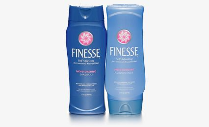 Finesse Shampoo & Conditioner...Over the years I've always come back to this shampoo and conditioner.It's an oldie but a goody.Smells great and leaves hair soft and shiny.