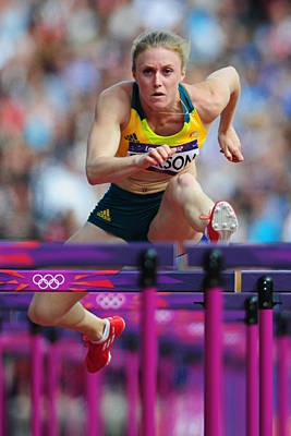 Sally Pearson of Australia in the women's 100-meter hurdles