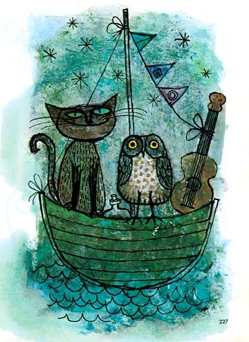The Owl and the Pussycat illustration by Alice and Martin Provensen