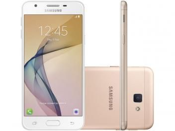 "Smartphone Samsung Galaxy J5 Prime 32GB Dourado - Dual Chip 4G Câm. 13MP + Selfie 5MP Tela 5"" HD"