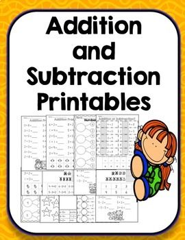 Addition, subtraction and a mix of addition and subtraction practice sheet with various levels of support. Includes worksheets for number bonds, addition problems, subtraction problems and a mix of addition and subtraction giving students various opportunities to practice these skills. These can be used to supplement your addition and subtraction units or for extra practice for struggling students providing them multiple opportunities to practice the skill.