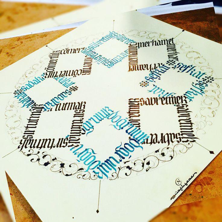#calligraphy #kaligrafi #calligritype #thedailytype #goodtype #lettering…