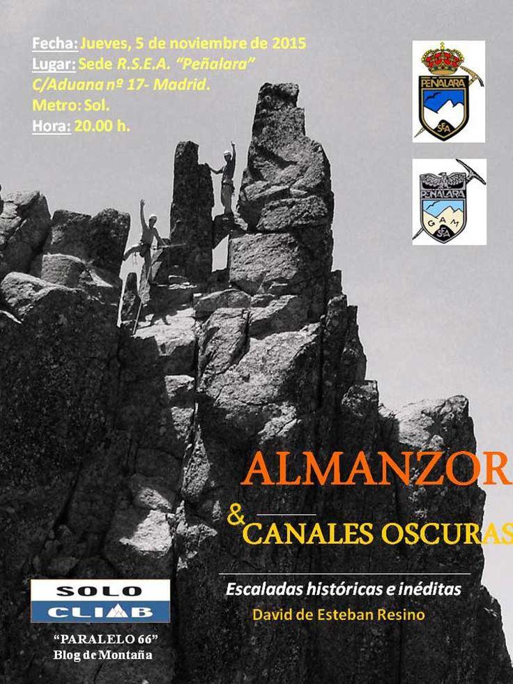 PROYECCIÓN 'ALMANZOR & CANALES OSCURAS' DE DAVID DE ESTEBAN RESINO - Federación Madrileña de Montañismo