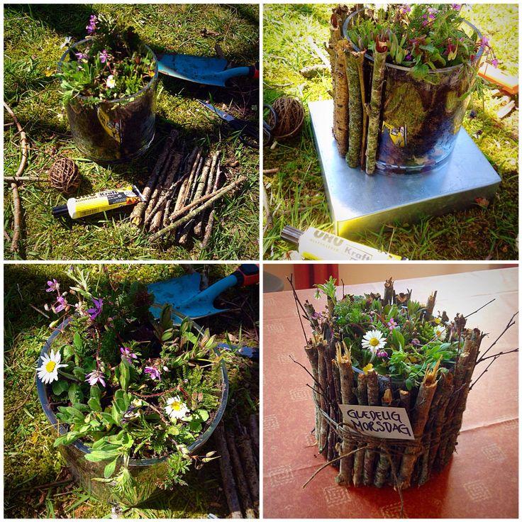 Homemade Mothersday gift. Hjemmelavet Mors dags gave. DIY from nature