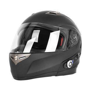 Motorcycle Helmets,FreedConn Flip up Dual Visors Full Face Helmet with Built-in Bluetooth Intercom Communication System