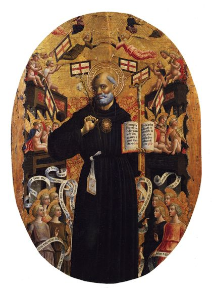 http://museolia.spezianet.it/images/opere/inv_270_big.jpg Giovanni Mazone Apotheosis of St. Nicolas of Tolentino c. 1466