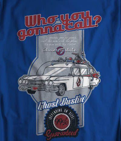 Camiseta publicitaria de la ambulancia de los cazafantasmas Ghostbusters