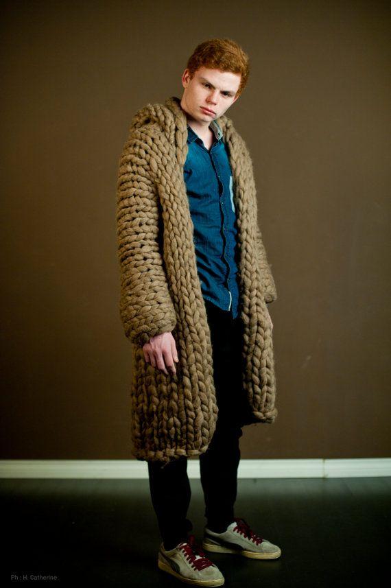 Chunky knit sweater for men. Mens oversized от MoroshkaByVingil