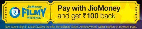 Bookmyshow loot- Get flat 100% cashback on booking Movie tickets via Jio Money