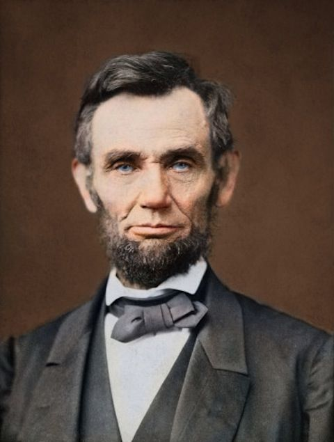 Sanna Dullaway Colorized photos of Abraham Lincoln