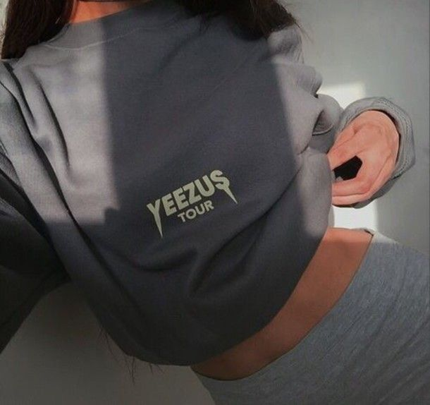 Wheretoget - Yeezus tour grey long sleeve shirt