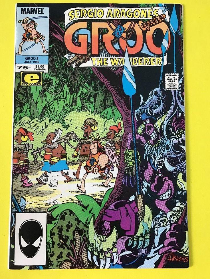 1985 GROO The WANDERER #5 Comics Book EPIC July Sergio Aragone's MARVEL Series #eBayDanna