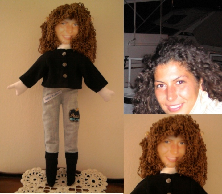be a doll: I make a doll with your face and your personal look