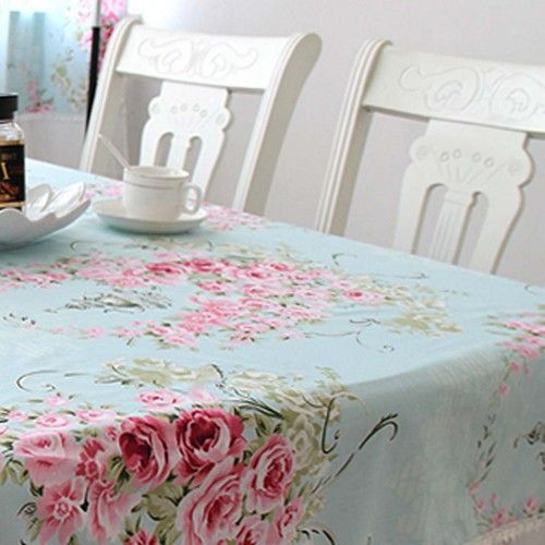 Victorian Rose Tablecloth  Love the chairs