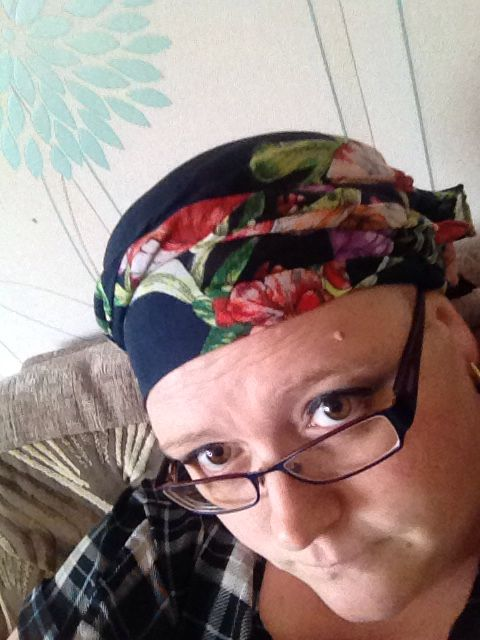 Floral head scarf
