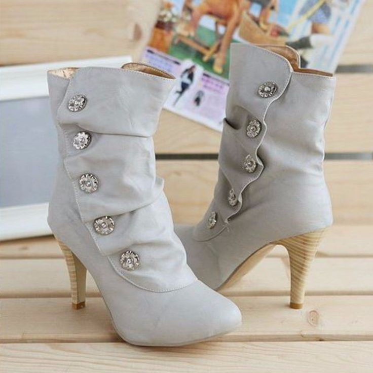 Sexy Rhinestone Women High Heeled Boots | Daisy Dress for Less | Women's Dresses & Accessories