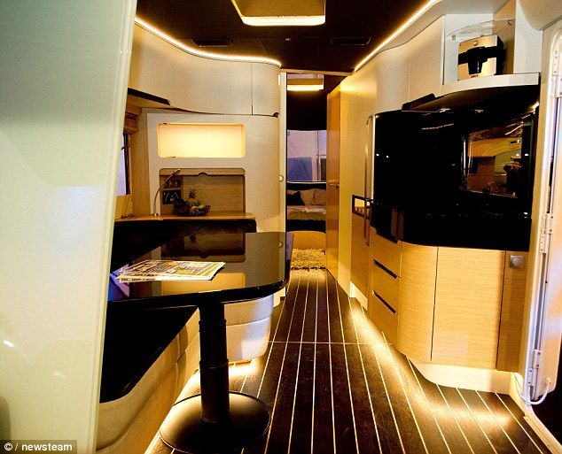 The Caravisio caravan also comes with the kind of mod-cons that wouldn't look out of place in a luxury yacht