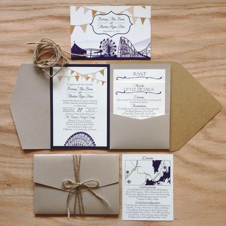 Custom Invitation Suite Rustic Fair Theme Layered Pocket Fold Wedding I Pocket Fold Wedding Invitations Pocket Wedding Invitations Wedding Invitations Rustic