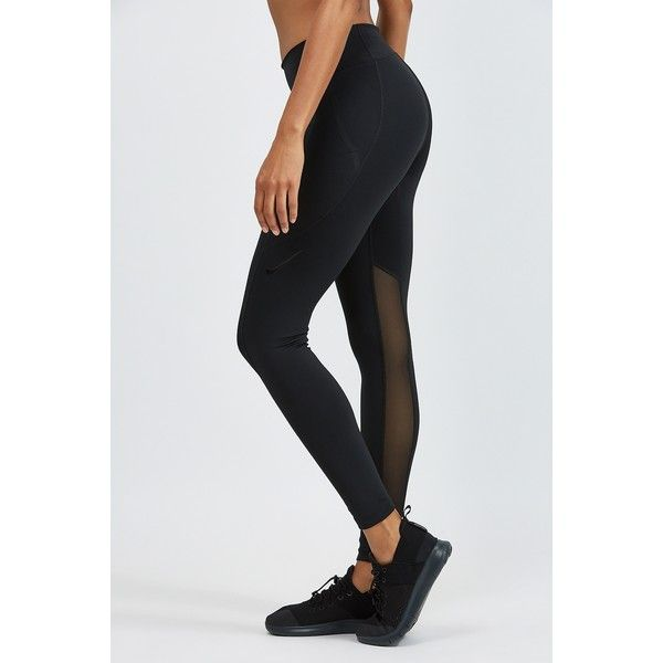 Nike Power Pocket Lux Tights ($90) ❤ liked on Polyvore featuring activewear, activewear pants, nike, compression sportswear, nike sportswear, nike activewear pants and nike activewear