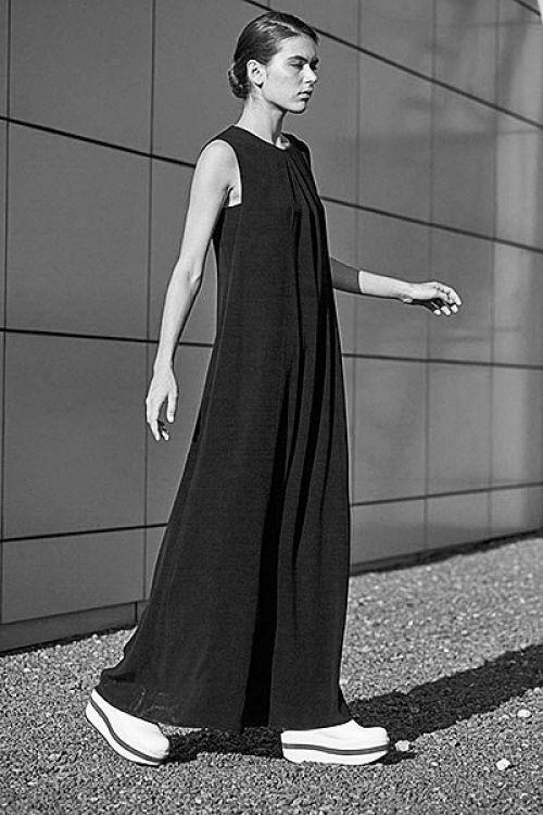 Купить ПЛАТЬЕ без рукавов ПУРИЗМ с эластаном из коллекции «Resort 2016» от Lesel (Лесель) российский дизайнер одежды