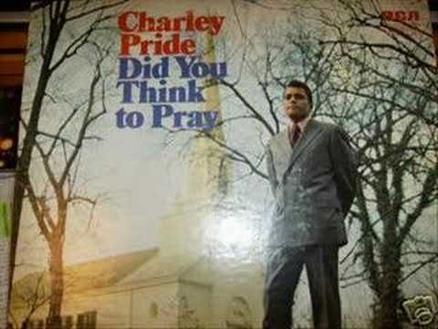 I'LL FLY AWAY by CHARLEY PRIDE - For many years he held services at three nursing homes in our area.  The people there loved this song so much that he had copied and taped the music and lyrics to the front inside cover of his Bible.