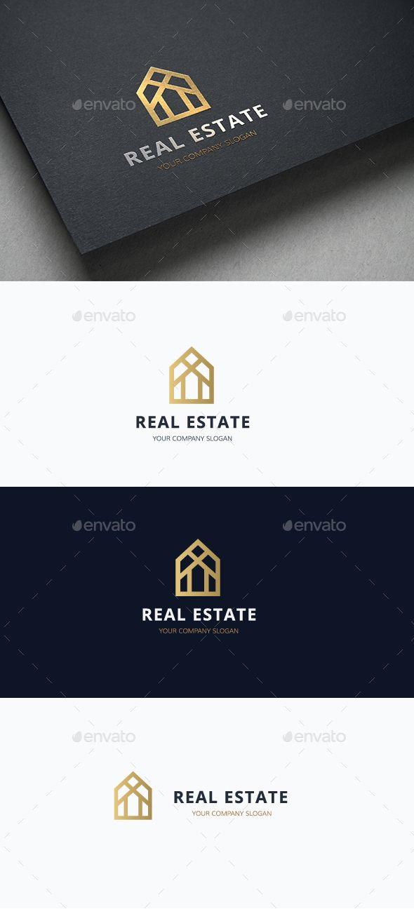 Real Estate Logo Template Vector EPS, AI Illustrator #ksioks. Download here: http://graphicriver.net/item/real-estate/15370931?ref=ksioks