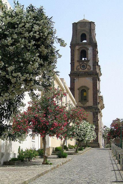Lipari cathedral, Sicily, Italy