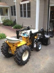 cub cadet 125 garden tractor loader_1