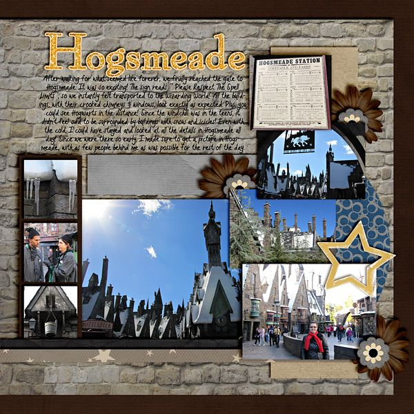 Wizarding World of Harry Potter - Universal Studios scrapbook page layout