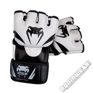 Venum Attack MMA Gloves Negro-Blanco