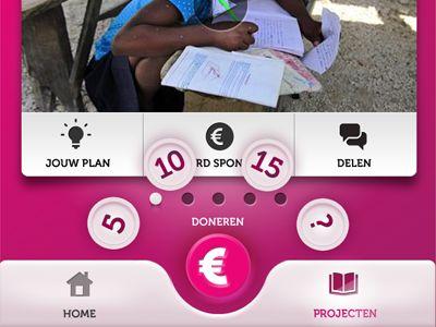 Dribbble - Charity App concept design by Vincent Koopmans