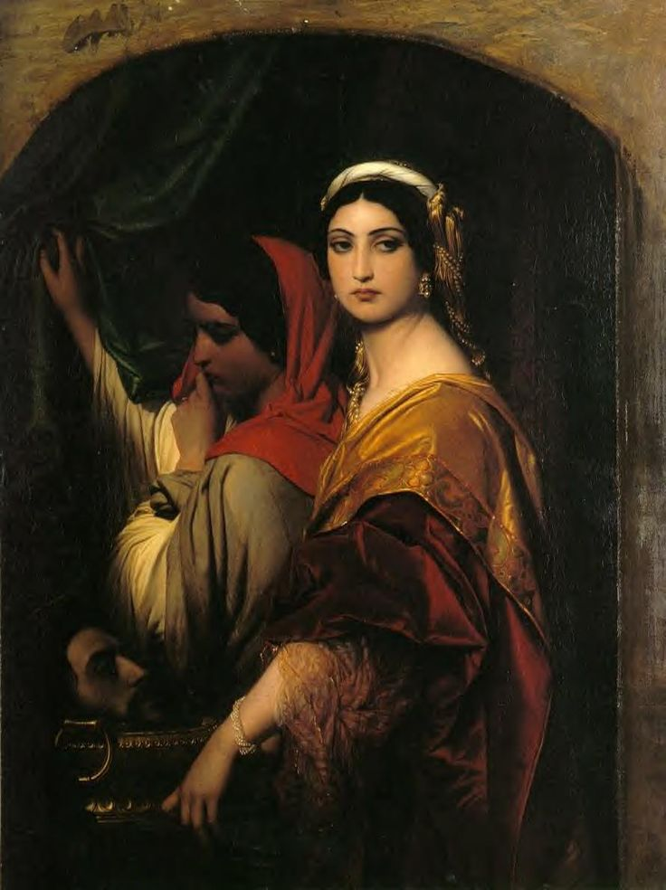 Herodias: 1843 by Paul Delaroche (Private Collection) - Academic Classicism