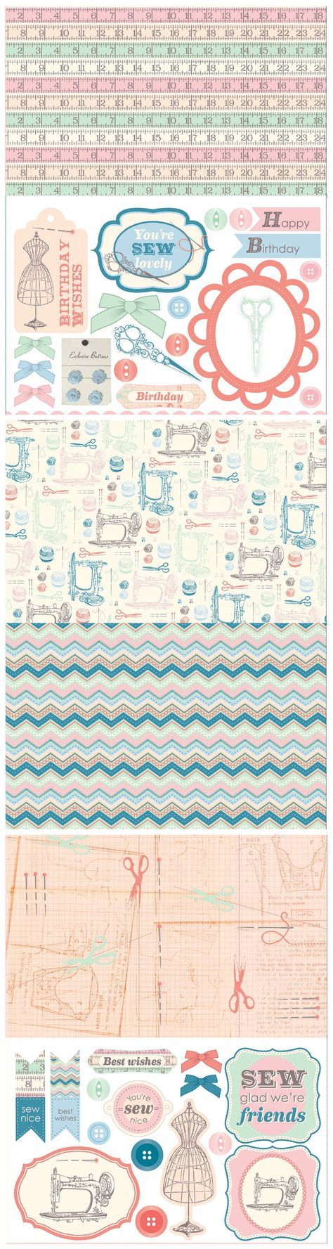 Find vintage inspiration with our free printable sewing papers!