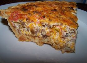 Cooking What I Pin: Southwestern Sausage Quiche---this was great! (I also added pepperjack)