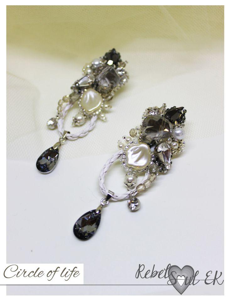 Pirate jewelry, white beadwork wedding jewelry, sculls bracelet, art earrings long, bridal jewelry, art earrings long, statement bracelet