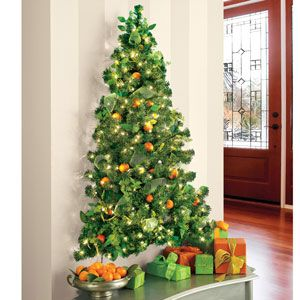 Wall-Hanging Pre-Lit Christmas Tree this would be a great feature without sacrificing floor space for holiday events. Even in larger travel trailers or 5th wheels and maybe even the office.