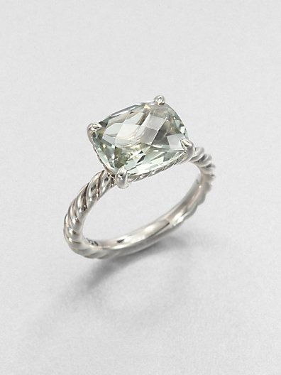 David Yurman - Prasiolite and Sterling Silver Ring - Saks.com