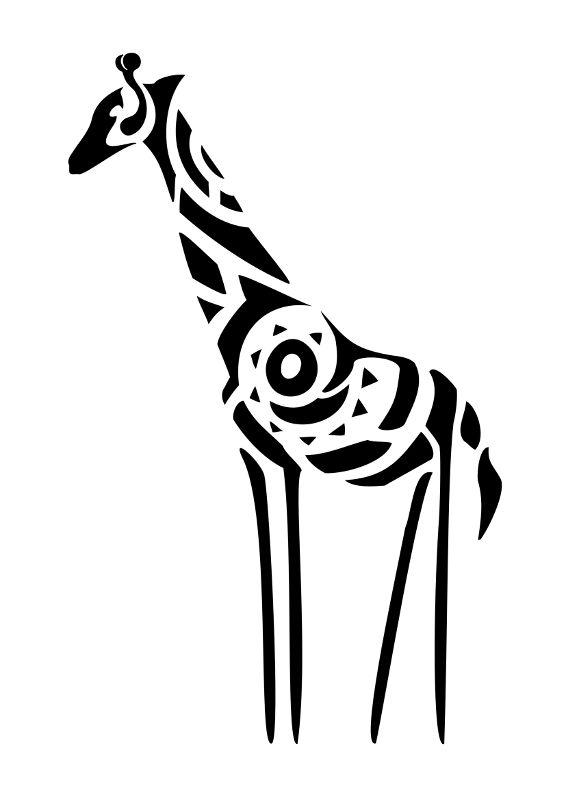Tattoo of Giraffe, Originality, change of perspective tattoo - royalty-free designs on TattooTribes.com